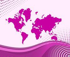 Free Illustration Map Of World Royalty Free Stock Photo - 8409315