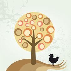 Free Bird And Tree Royalty Free Stock Photo - 8409965