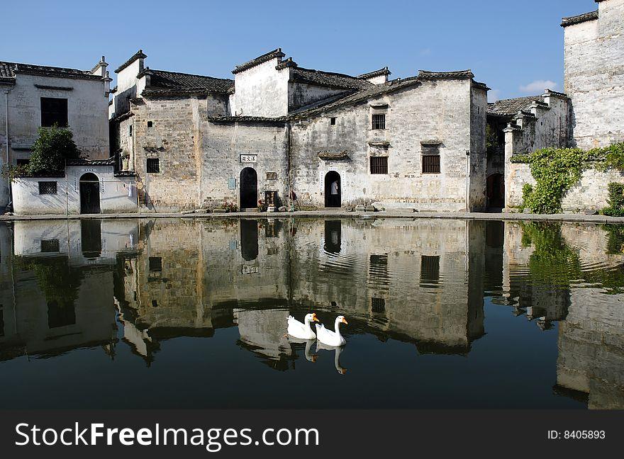 Hongcun China,a famous Villages