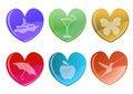 Free Hearts Icon Set. Royalty Free Stock Photos - 8411528