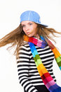Free Fashionable Model With Long Flying Hair Stock Photo - 8411790