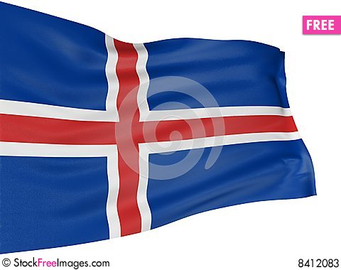 Free 3D Icelandic Flag Stock Photos - 8412083