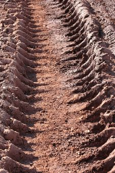 Mud Tire Track Royalty Free Stock Photos
