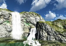 Free Waterfalls Royalty Free Stock Photography - 8410657