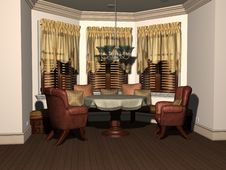 Free 3D Render Of Breakfast Nook Royalty Free Stock Images - 8410749