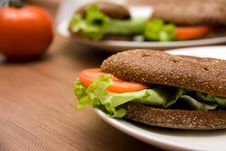 Sandwich With Freshness Vegetables Stock Photo