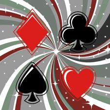 Free Gambling Cards Signs Set Stock Image - 8411031