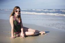 Free Preteen Beach Beauty Royalty Free Stock Photo - 8411145
