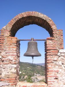 The Bell At Gaucin Stock Photo