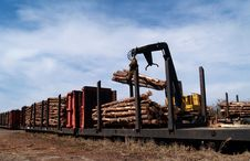 Free Loading Logs On A Railcar Royalty Free Stock Photography - 8411187