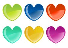 Free Beautifull Hearts Icon Set Stock Photos - 8411483