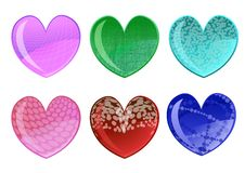 Free Beautifull Hearts Icon Set Royalty Free Stock Photos - 8411508