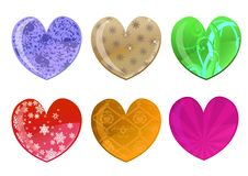 Free Beautifull Hearts Icon Set Royalty Free Stock Images - 8411519