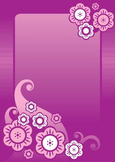 Free BLUE PURPLE FLORAL BACKGROUND Stock Image - 8411861