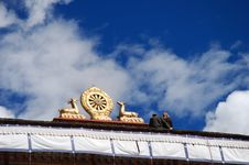 Rooftop Of A Monastery Stock Image