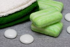 Free Soap And Towels Royalty Free Stock Photo - 8412615