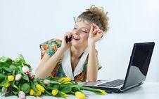 Free Woman Secretary Office Stock Photos - 8412623