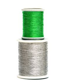 Free Green And Silver Spools Royalty Free Stock Image - 8412706