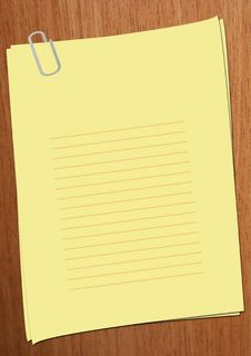 Free Simple Empty Yellow Page On A Wood Background Stock Photo - 8412740