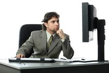 Free Working Businessman Stock Photography - 8413992