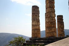 Columns In Delphi Stock Images