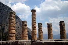 Delphi Ruins And Columns Stock Image