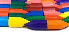 Free Horizontal Rows From Wax Pencils Stock Photos - 8414353