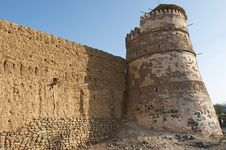 Ancient Arabic Tower And Wall Royalty Free Stock Image