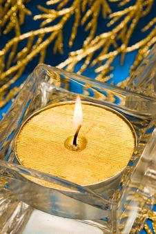 Free Golden Candle Royalty Free Stock Photo - 8414815