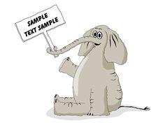 Free Happy Elephant With Sign Stock Photos - 8415213