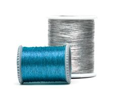 Free Blue And Silver Spools Royalty Free Stock Photo - 8415525