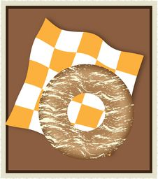 Free Donut_on_napkin Stock Photography - 8415592