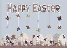 Free Happy Easter Card Design With Floral Easter Eggs Stock Photography - 8415602