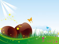 Free Easter Chocolate Eggs Stock Photography - 8415982