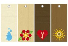 Free Five Wooden Labels, Vector Stock Photo - 8416220