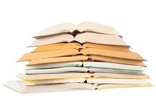 Stack Of Opened Books Royalty Free Stock Photo