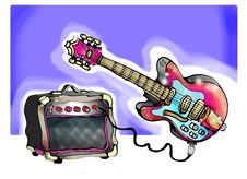 Free Guitar Royalty Free Stock Photography - 8417067