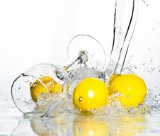 Free Lemon With Water Stock Photos - 8417253