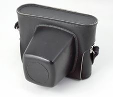 Old SLR Photo Camera In Case Stock Image
