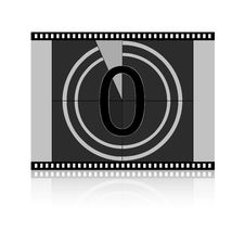 Free Film Countdown -  Zero Stock Image - 8417941
