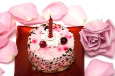 Free Cake With Candle Stock Photography - 8418182