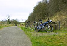 Free Three Bikes Royalty Free Stock Photos - 8418218