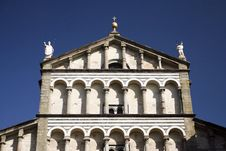 Free Cathedral Facade In Tuscany Royalty Free Stock Photos - 8418358