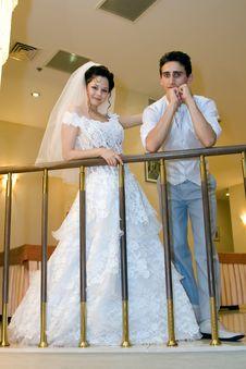 Free Happy Newlyweds Royalty Free Stock Photos - 8418538