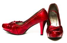 Free Red Womanish Shoes Stock Images - 8418554