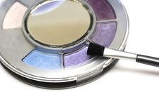 Free Violet Make-up Eyeshadows Royalty Free Stock Photo - 8418675