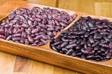 Kidney Beans In Wooden Dish Royalty Free Stock Image