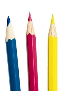 Free C-M-Y Pencils Royalty Free Stock Photos - 8418858