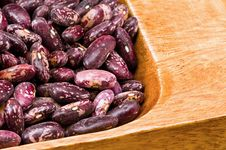 Kidney Beans In Wooden Dish Stock Photography