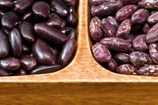 Kidney Beans In Wooden Dish Stock Photo